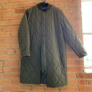 Madewell long bomber style coat size S